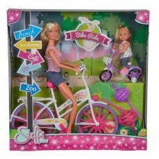 Кукольный набор Штеффи и Эви Прогулка на велосипедах Simba 5733045
