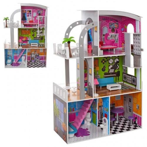 Деревянный домик для кукол MD 2012
