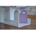 Деревянный кукольный домик с мебелью 1102 (фиолетовый и розовый)