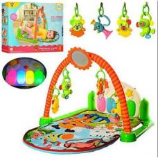 Коврик для младенца с музыкальной панелью и игрушками из 5 шт HY68109