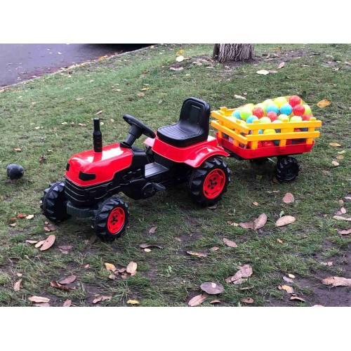 Педальный трактор DOLU 2005 красный