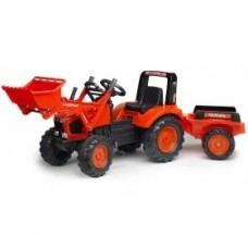 Педальный трактор с ковшом и прицепом Falk 2060AM