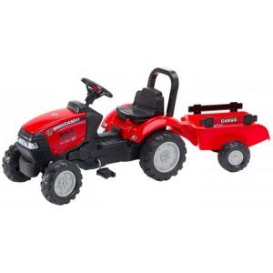 Детский трактор на педалях с прицепом Falk 961B  Красный