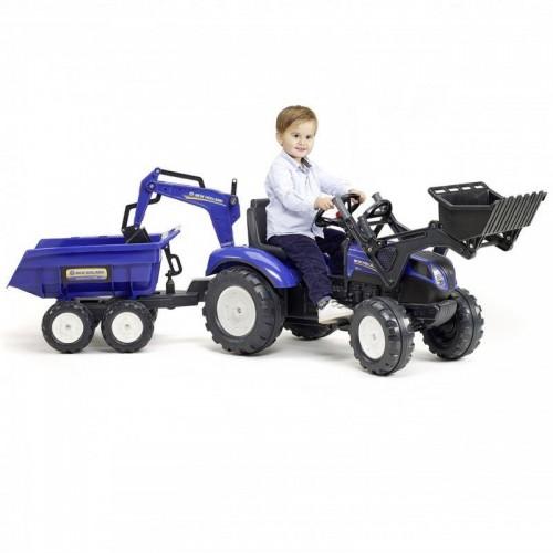 Педальный трактор Falk New Holland 3090W