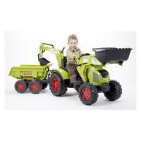 Детский педальный трактор два ковша 3 - 7 лет Falk 1010W