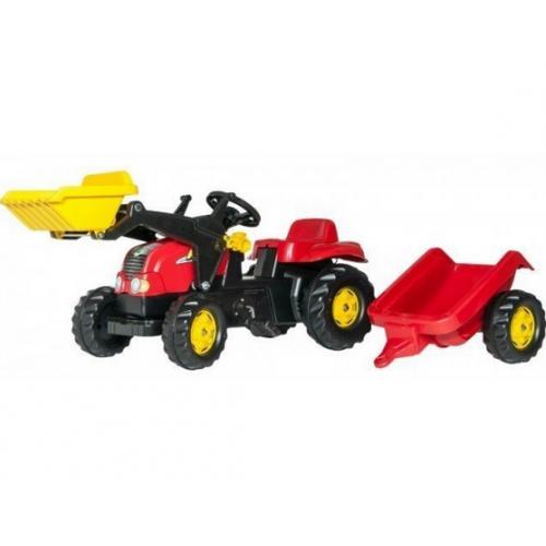 Трактор педальный с прицепом и ковшом Rolly Toys 23127