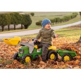 Трактор Rolly Toys Kid John Deere з прицепом и ковшом 23110