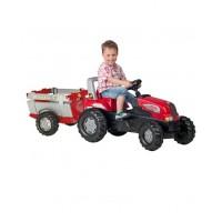 Детский трактор Rolly Toys 800261, c прицепом