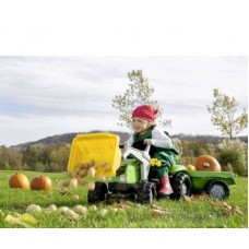 Детский педальный трактор с прицепом и ковшом Rolly Toys 23134