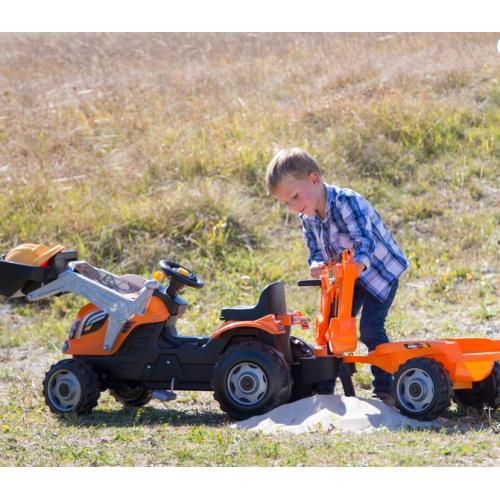 Трактор на педалях с прицепом Smoby 710110