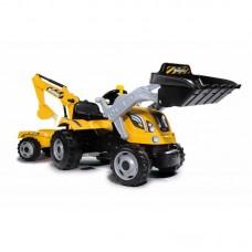 Трактор детский педальный с ковшом и прицепом Max Smoby 710301