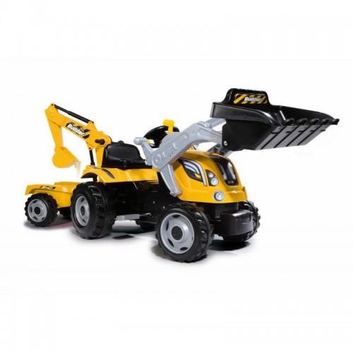 Трактор педальный с прицепом и ковшом  Max Smoby 710301