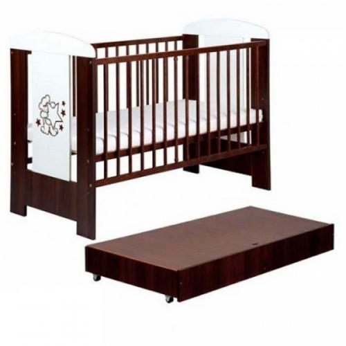 Кроватка детская Klups Safari Mis z Gwiazdkami (с ящиком)