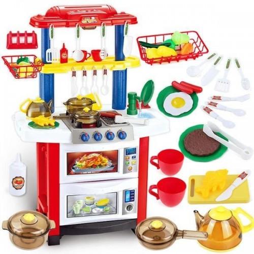 Кухня детская с водой, светом и звуком 758А, красная