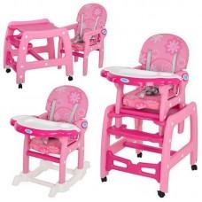 Стульчик для кормления Bambi M 1563 розовый
