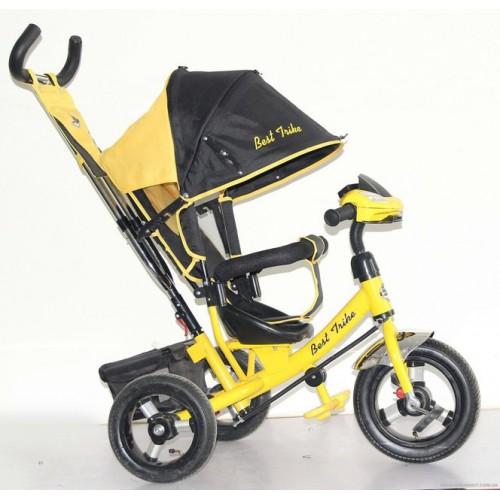 Велосипед трехколесный НАДУВНЫЕ КОЛЕСА + ФАРА Best Trike 06588-В