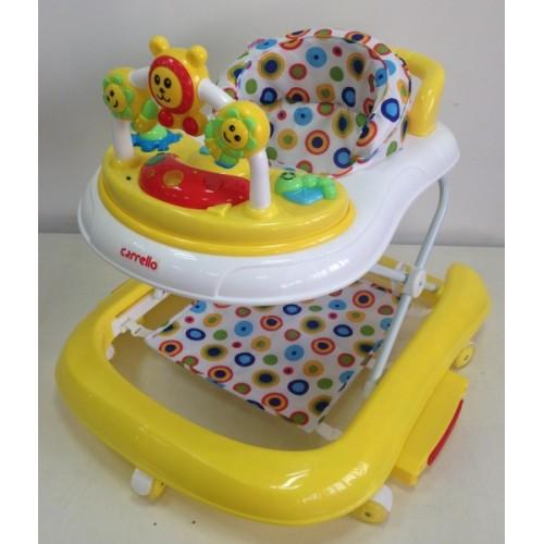 Купить детские ходунки CARRELLO CRL-9602 YELLOW с качалкой