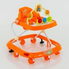 Детские музыкальные ходунки модель 258(оранжевый)