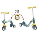 Детский трехколесный самокат-трансформер 2 в 1, Smoby 750612
