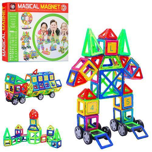 Конструктор магнитный Magical Magnet на 198 деталей 706