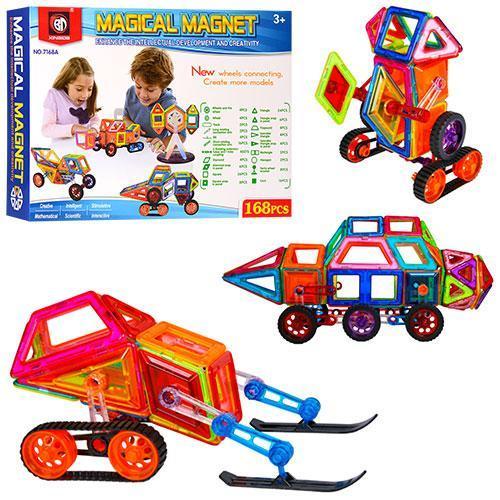 Магнитный конструктор Magical Magnet транспорт 7168А (168 деталей)