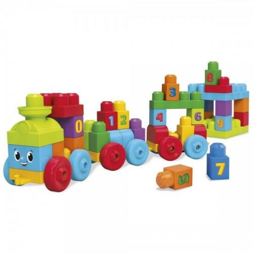 Конструктор Mega Bloks First Builders Поезд с цифрами (DKX60)