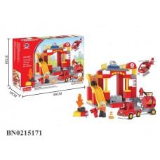 """Конструктор """"Пожарная станция"""", крупные детали 76 элементов 188-102"""
