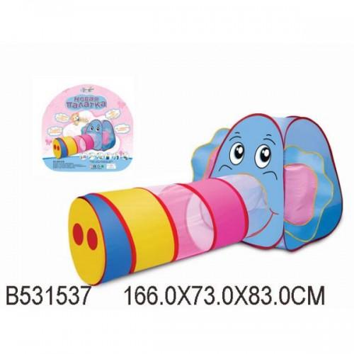 Детская игровая палатка Слоник с тоннелем 889-87B