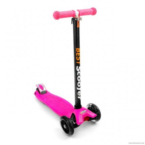 Самокат Best Scooter 466-113 со свет. колесами, руль до 90 см розовый