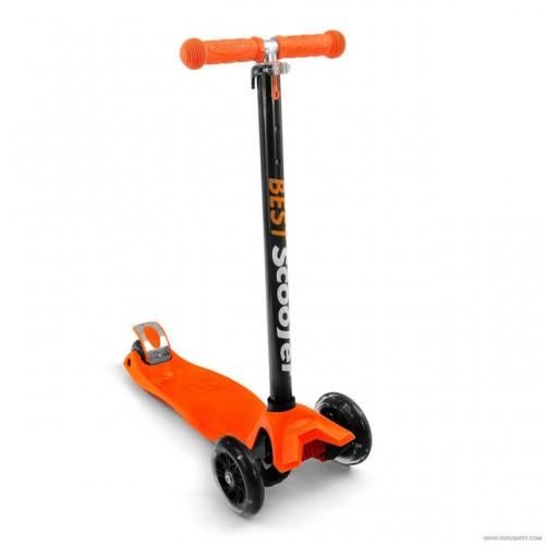 Самокат Best Scooter 466-113 со свет. колесами, руль до 90 см оранжевый