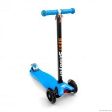 Самокат Best Scooter 466-113 со свет. колесами, руль до 90 см голубой