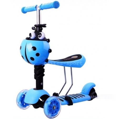 Самокат-беговел Scooter mini 3в1 (голубой)