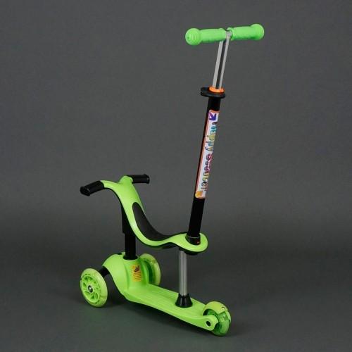 Самокат трехколесный с родительской ручкой 911 / 779-98 (зеленый)