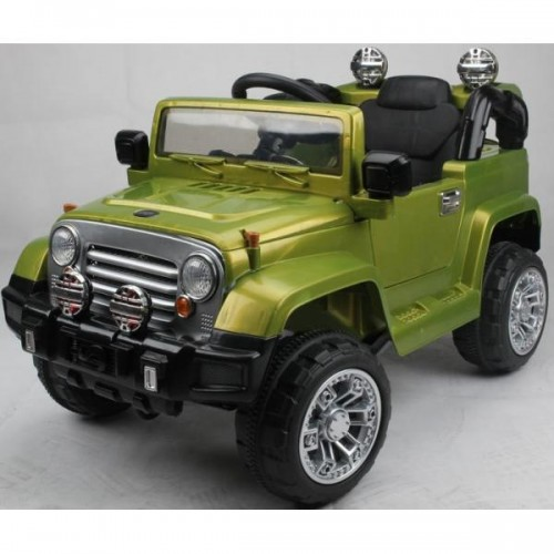 Детский электромобиль джип T-7813 GREEN