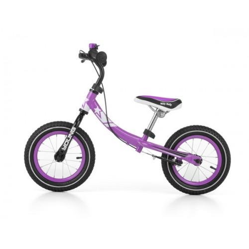 Детский беговел Milly Mally Young фиолетовый