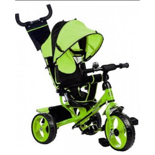 Трехколесный детский велосипед TURBO TRIKE M 3113-4 зеленый колеса EVA