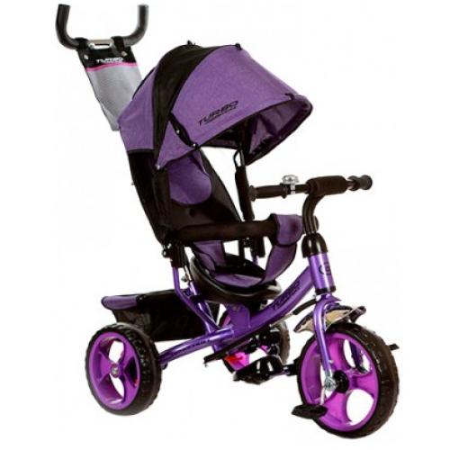 Трехколесный детский велосипед TURBO TRIKE M 3113-8 фиолетовый колеса EVA
