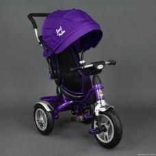Велосипед трехколесный Best Trike Надувные Колеса 05388 фиолетовый