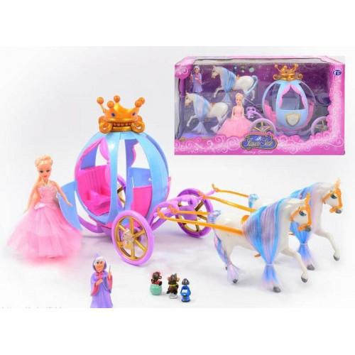 Карета с Золушкой, 2 лошади, фея, мыши, 778397/201