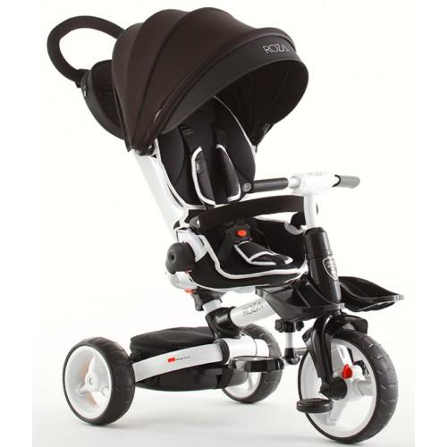Детский трехколесный велосипед-коляска складной Crosser MODI T-600 ROSA EVA черный