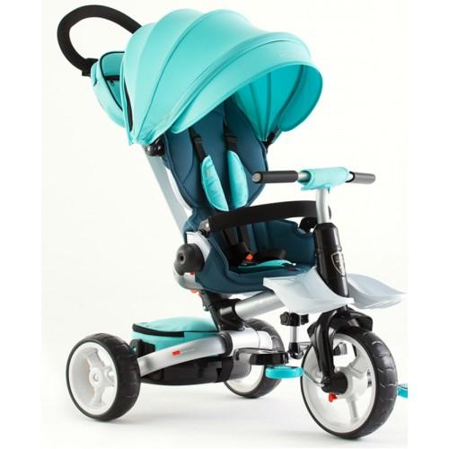 Детский трехколесный велосипед-коляска складной Crosser MODI T-600 ROSA EVA  бирюзовый
