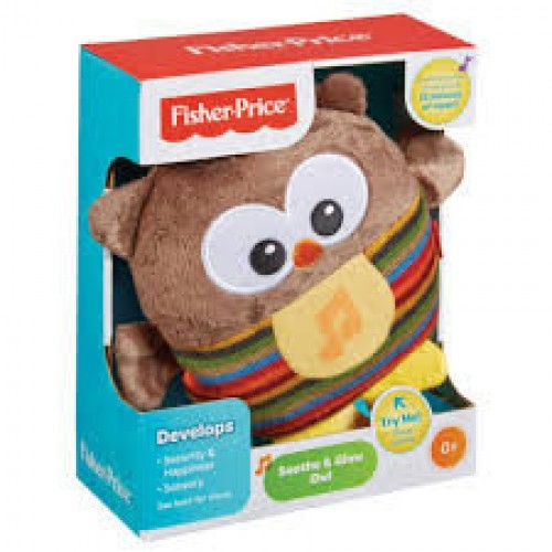 Игрушка Fisher Price для сна Светящаяся сова, CDN55