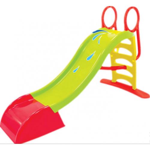 Детская горка с водным эффектом 180 см Mochtoys зеленая 10832