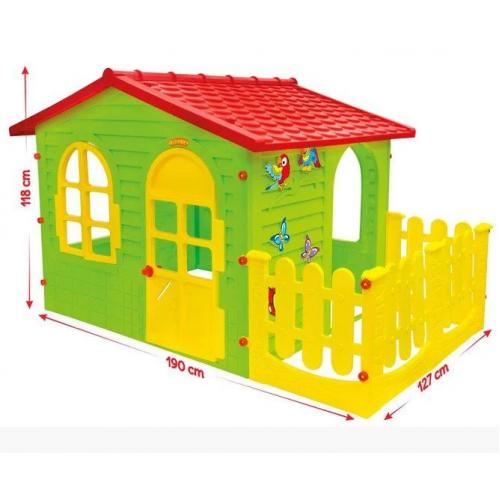 Детский домик с верандой Mochtoys 10498