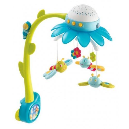 """Мобиль с проектором """"Cotoons Цветок Blue"""" Smoby 110110 blue"""