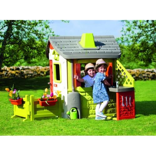 Детский игровой Домик лесника с раздвижными ставнями и комплектацией Smoby Toys Нео 810500S