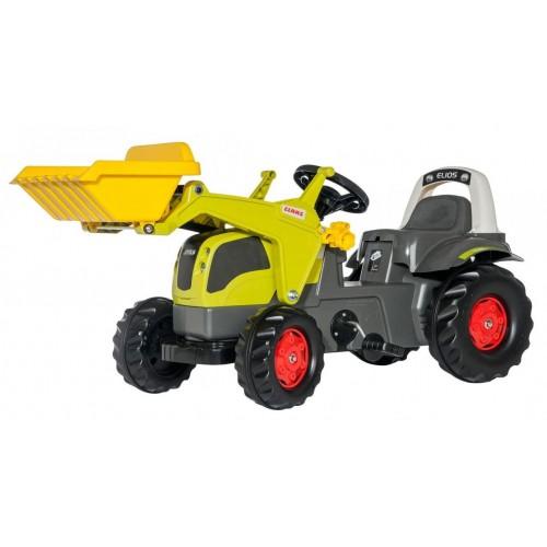 Трактор Kid Claas Elios с ковшом Rolly Toys 25077. Машинка для детей