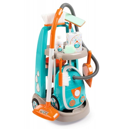 Тележка для уборки с пылесосом Smoby 330309