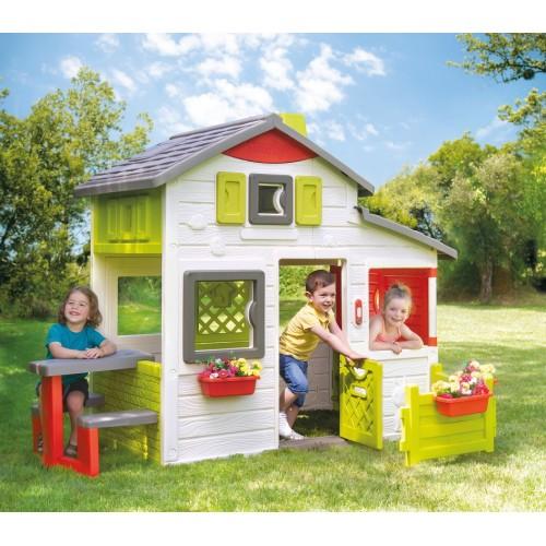 Садовый домик с садом и столиком SMOBY Neo Friends 810203