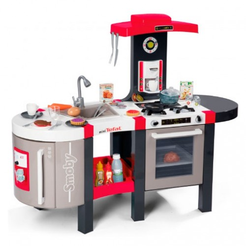 Интерактивная детская кухня Tefal Super Chef Deluxe Bubble Smoby 311207